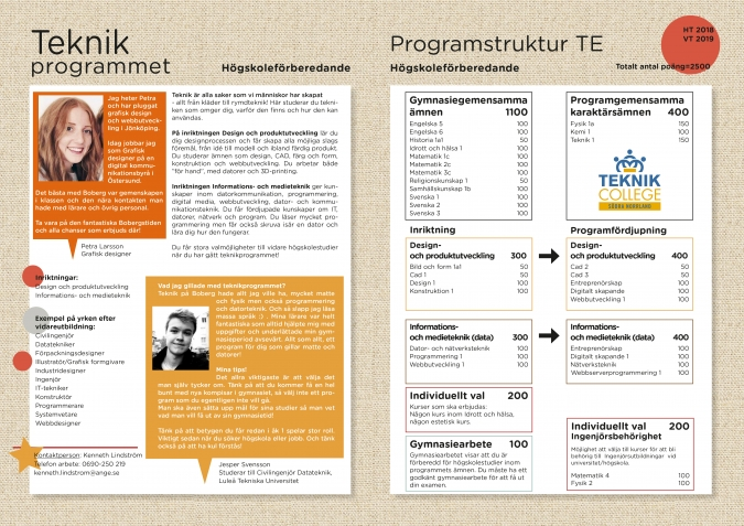 TE:s infoblad