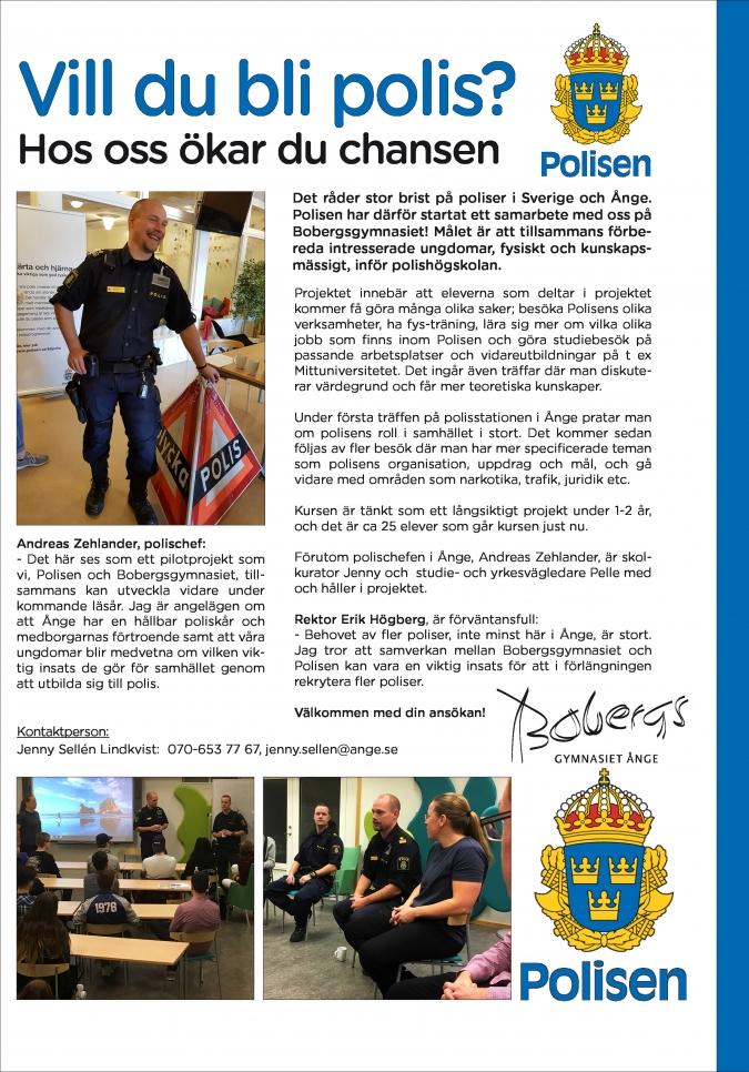 Vårt polisprojekt är öppet för alla